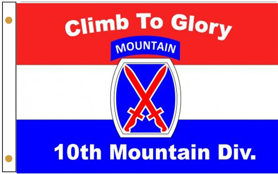 10th Mountain Division Flags