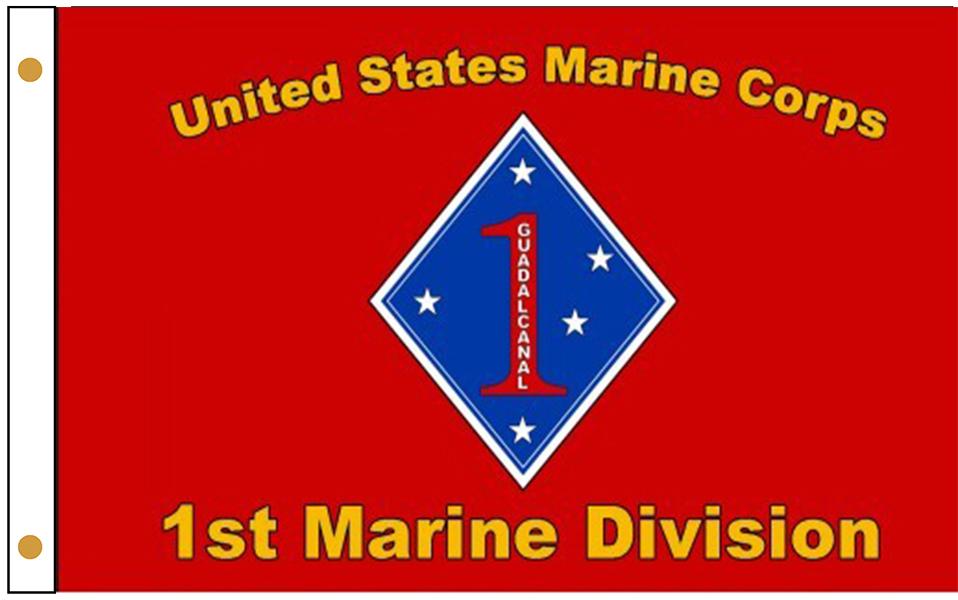 1st Marine Division Flags