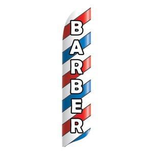 Barber Advertising Feather Flags
