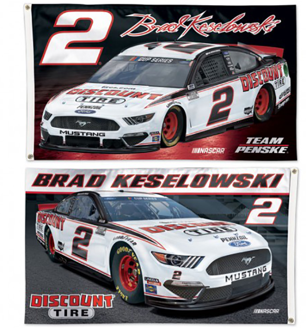Brad Keselowski NASCAR Flag