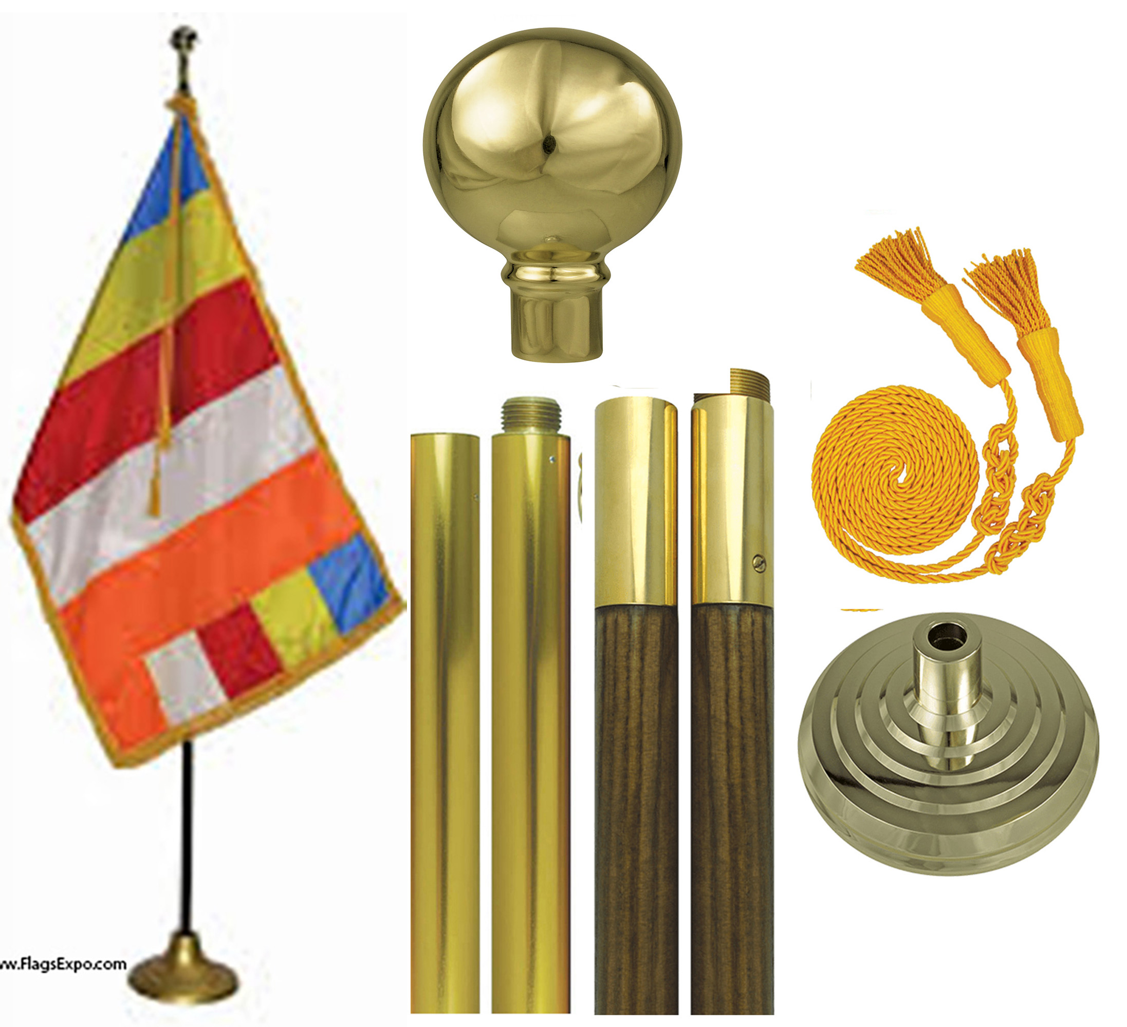 Buddhist Flag Set
