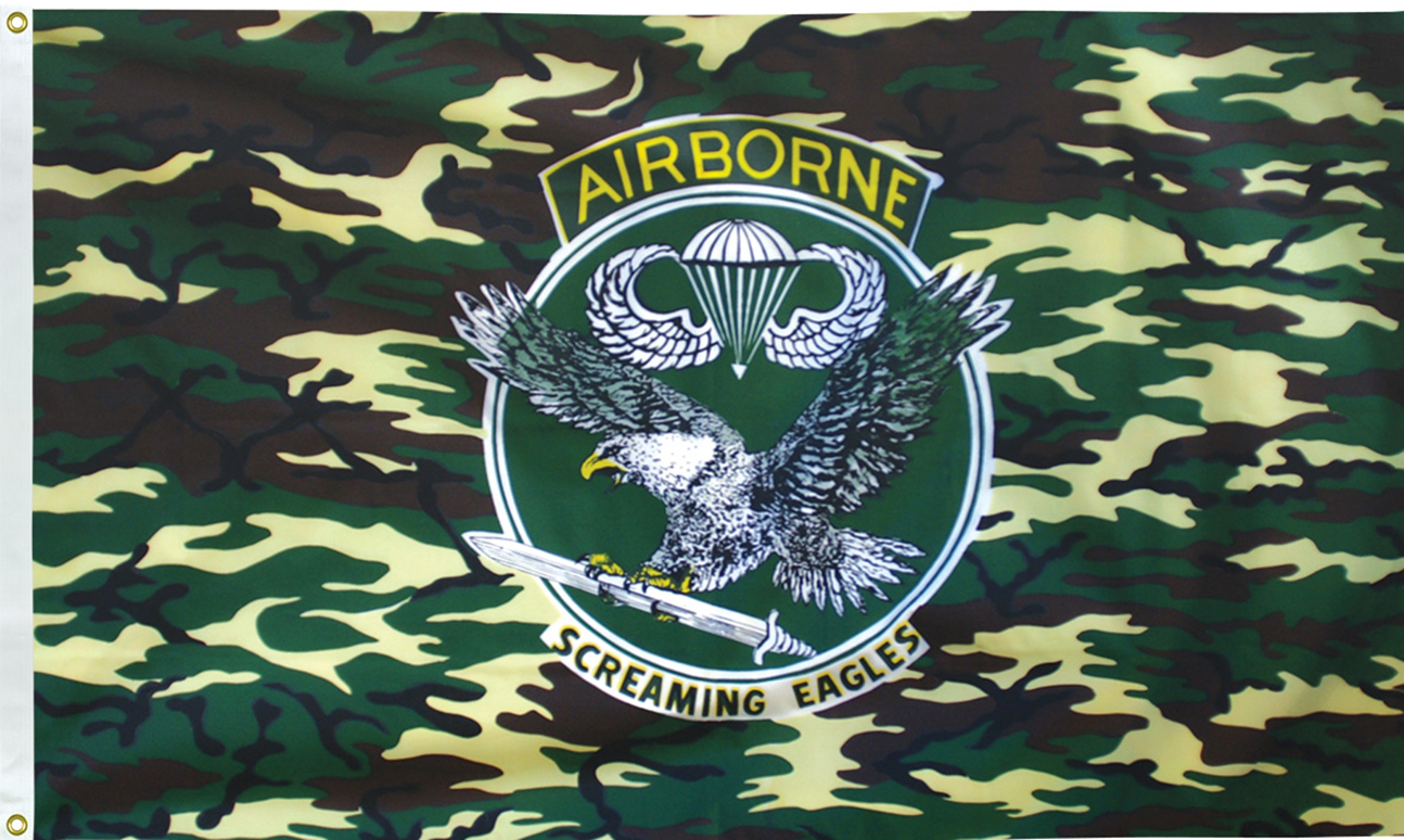 Camo Airborne Flags