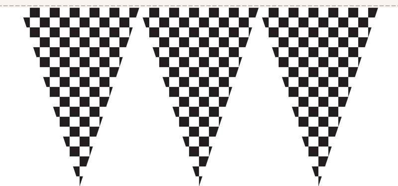 Checkered Pennant String Flags