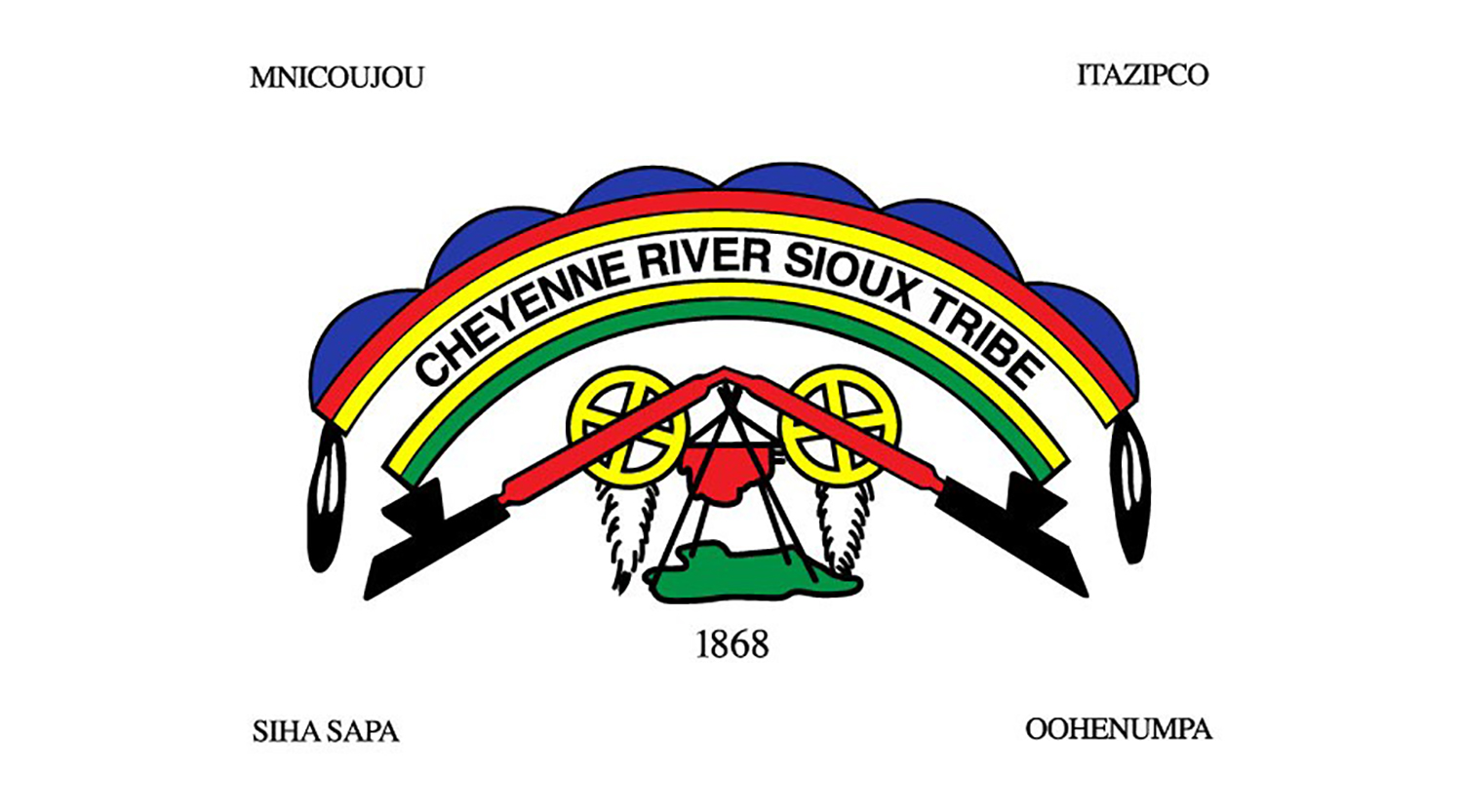 Cheyenee River Sioux Tribe Flags