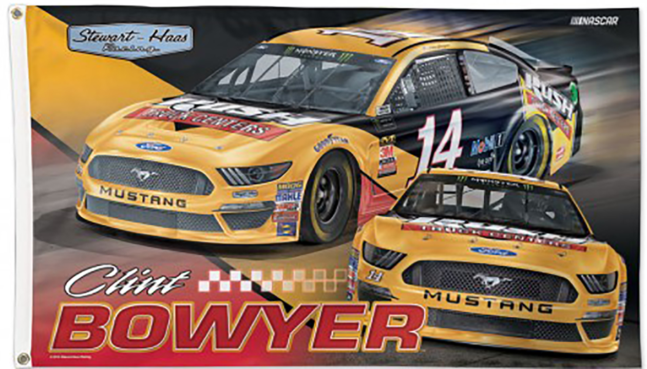 Clint Bowyer NASCAR Flag