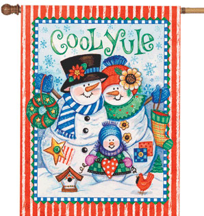 Cool Yule Christmas Flags