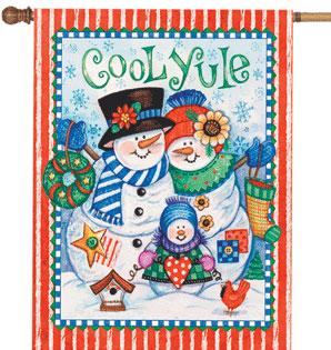 Cool Yule Christmas Flags