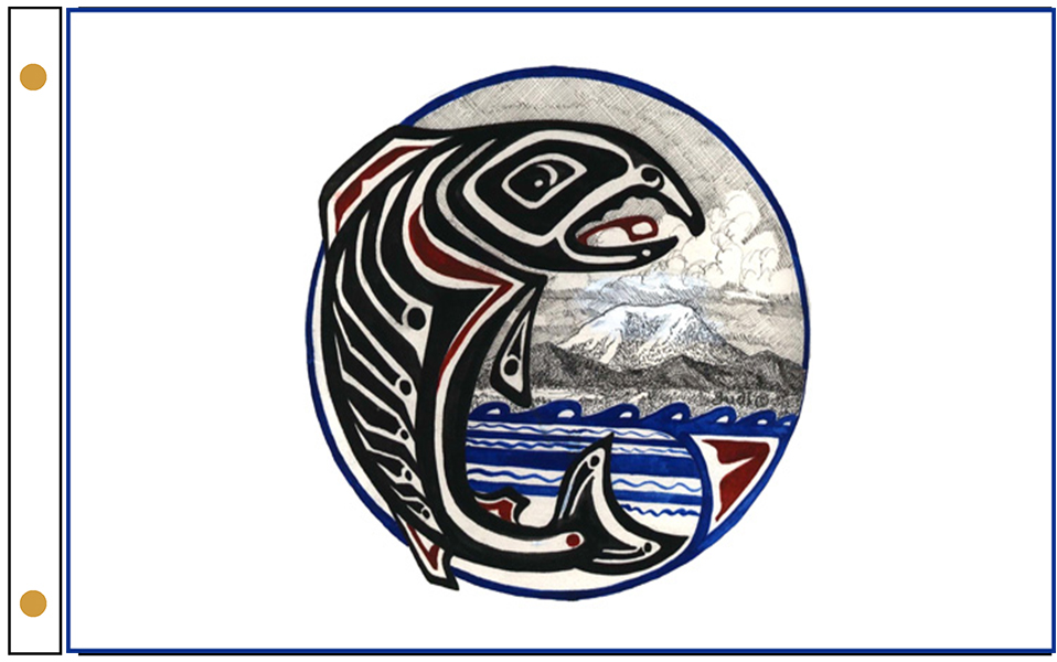 Cowlitz Indian Tribe Flags