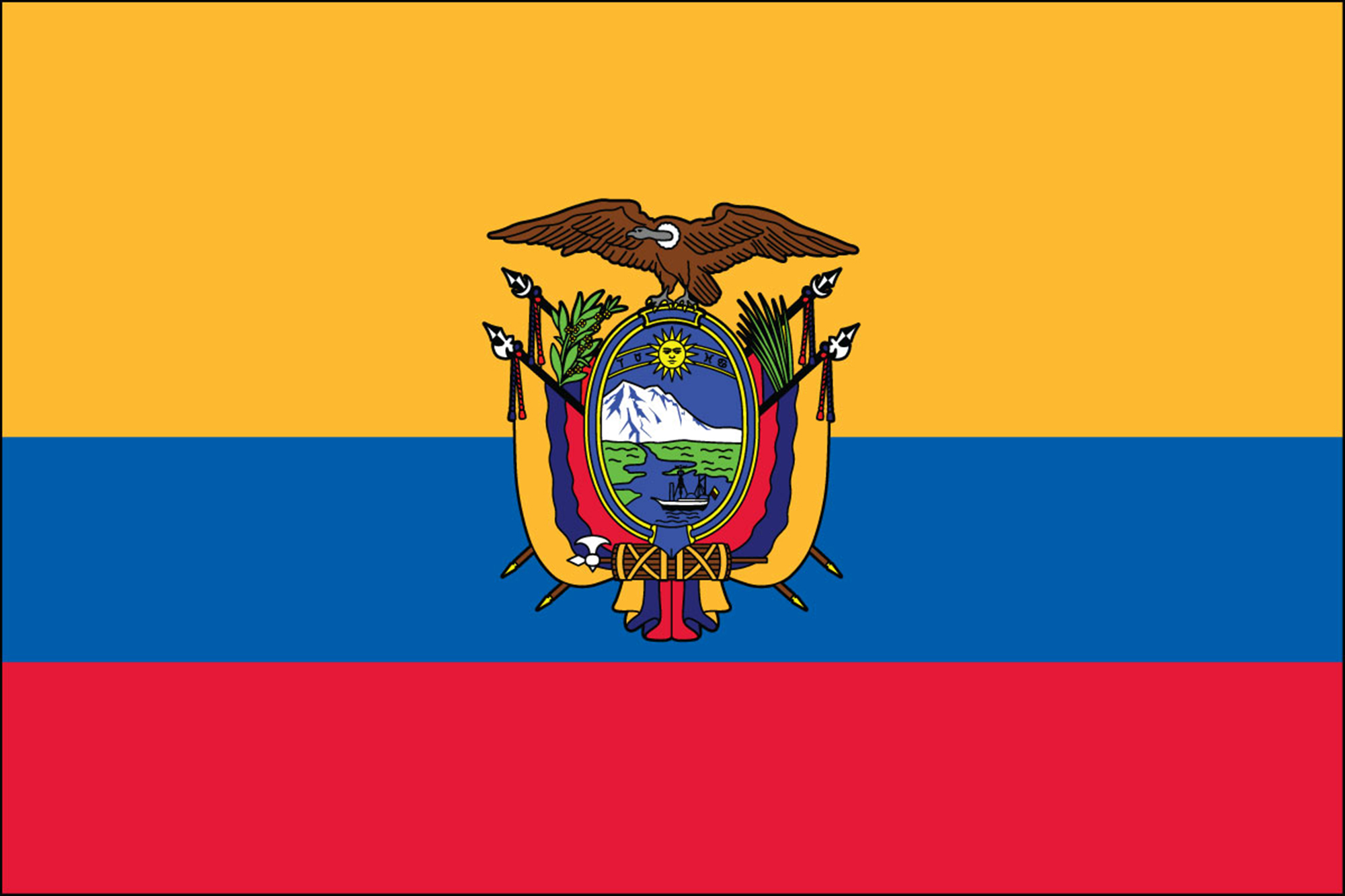 Ecuador Official Government Flags