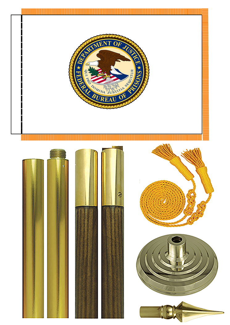 Federal Bureau of Prisons BOP Flags are made in USA from