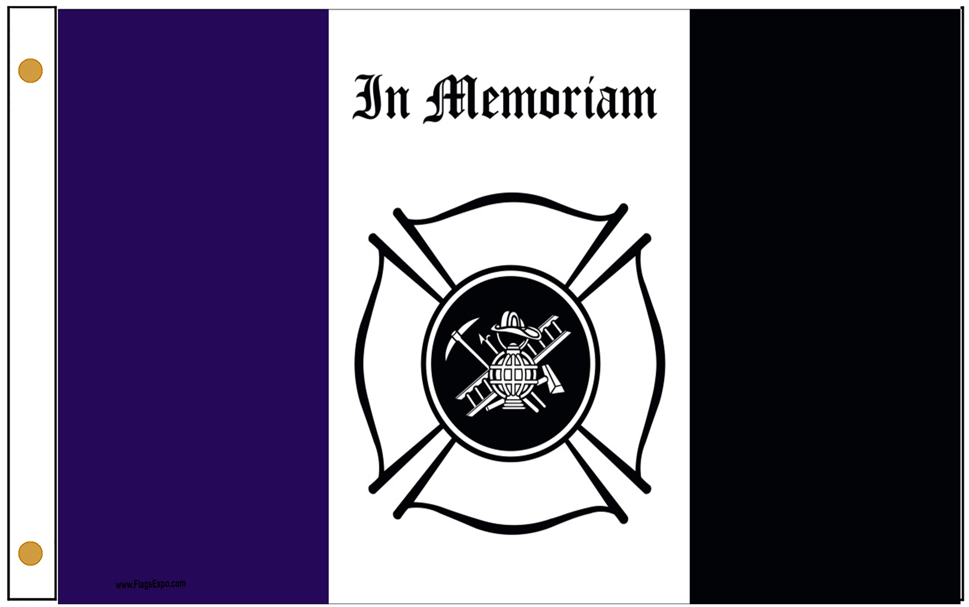 Fireman Mourning Flags