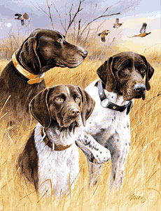 German Shorthairs Flags