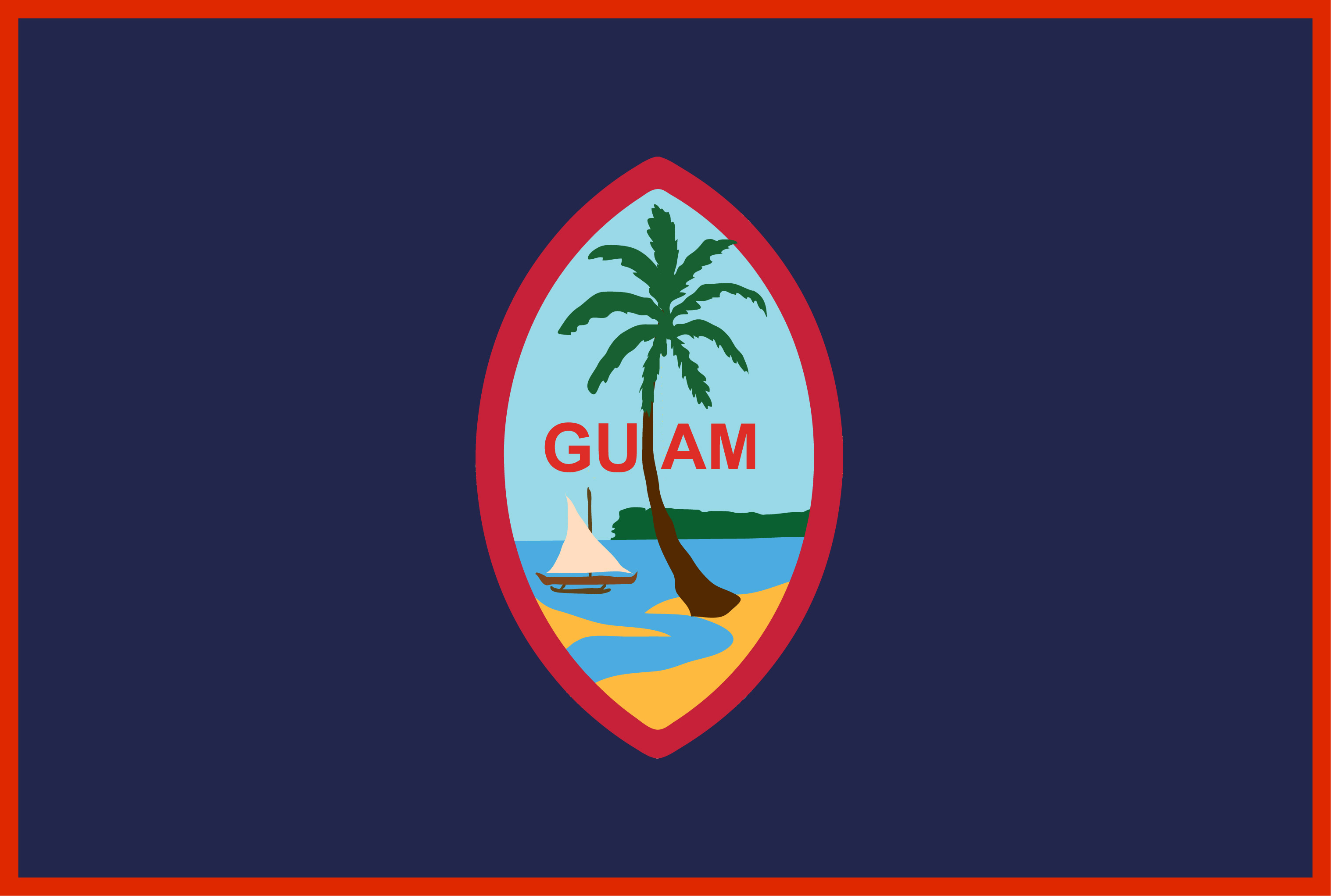 Guam US Territory Flags
