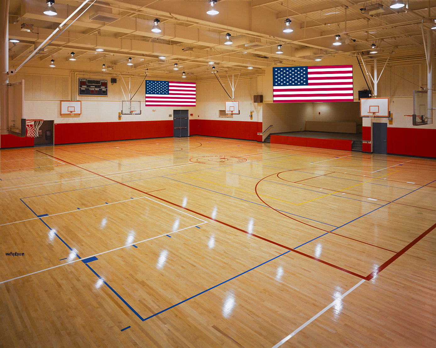 Gym and Auditorium Flags