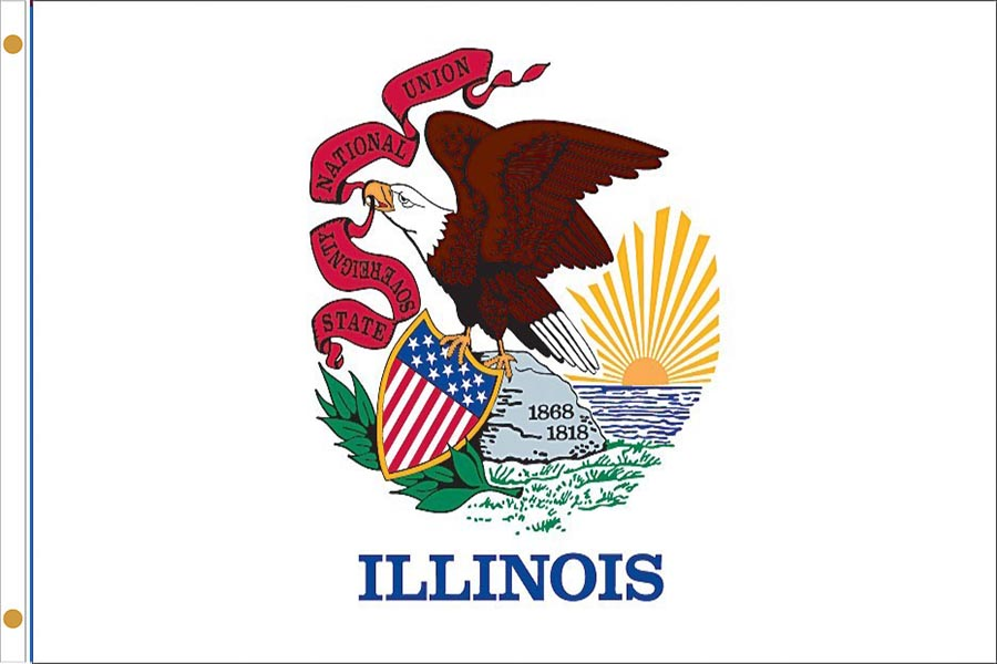 Illinois State Flags