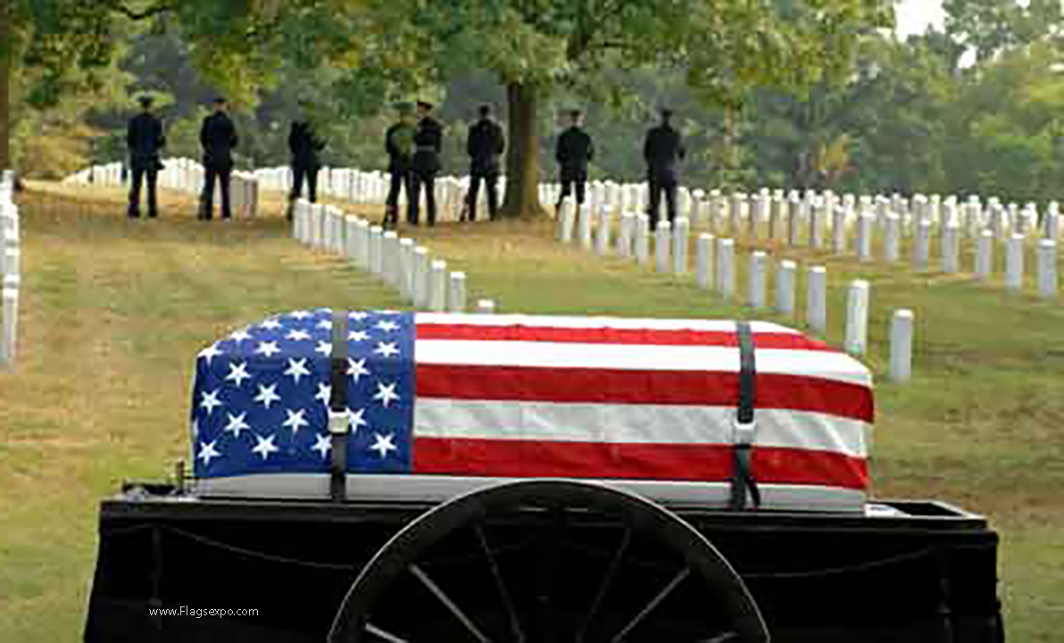 Interment Casket Flags