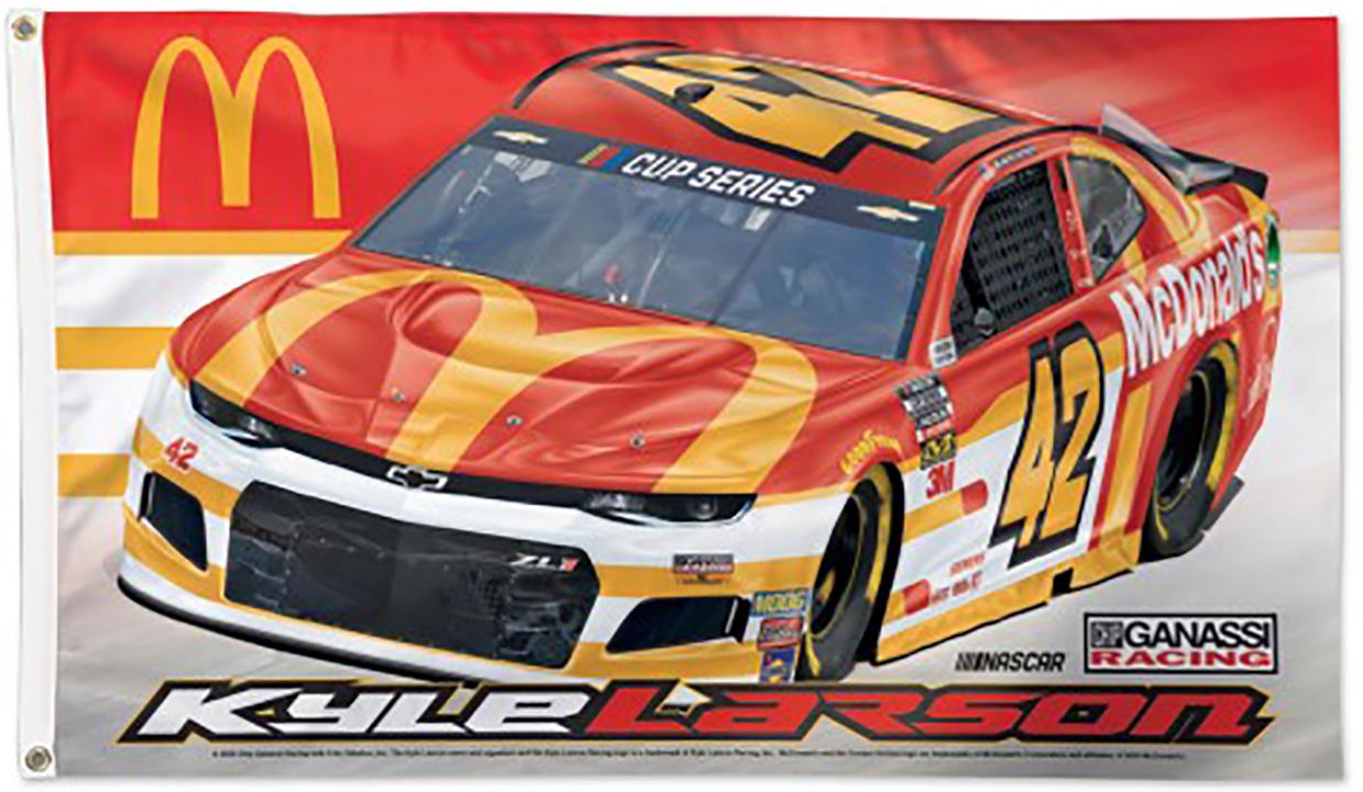 Kyle Larson NASCAR  Flag