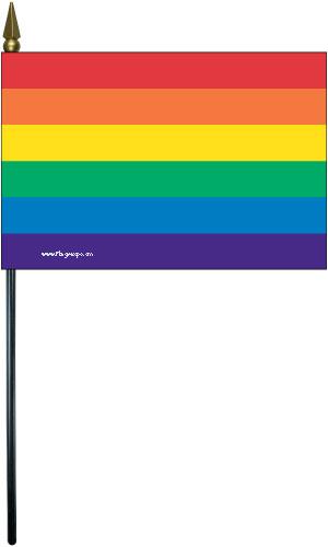 LGBT Rainbow Handheld Flags