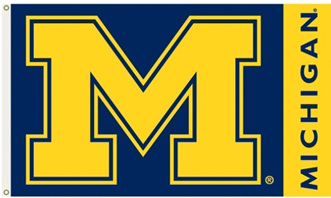 Michigan Wolverines  Flags