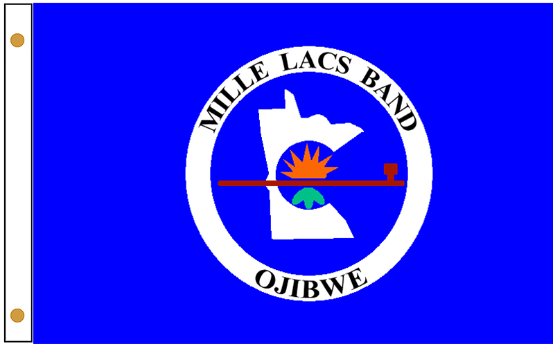 Mille Lacs Band of Objbwe Tribe Flags