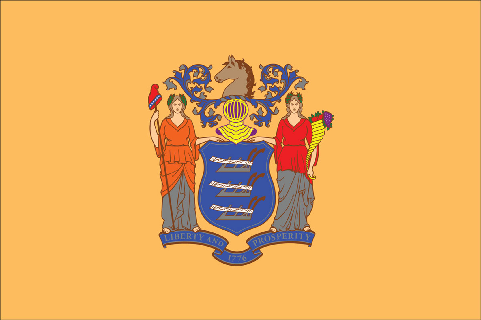 New Jersey State Flags