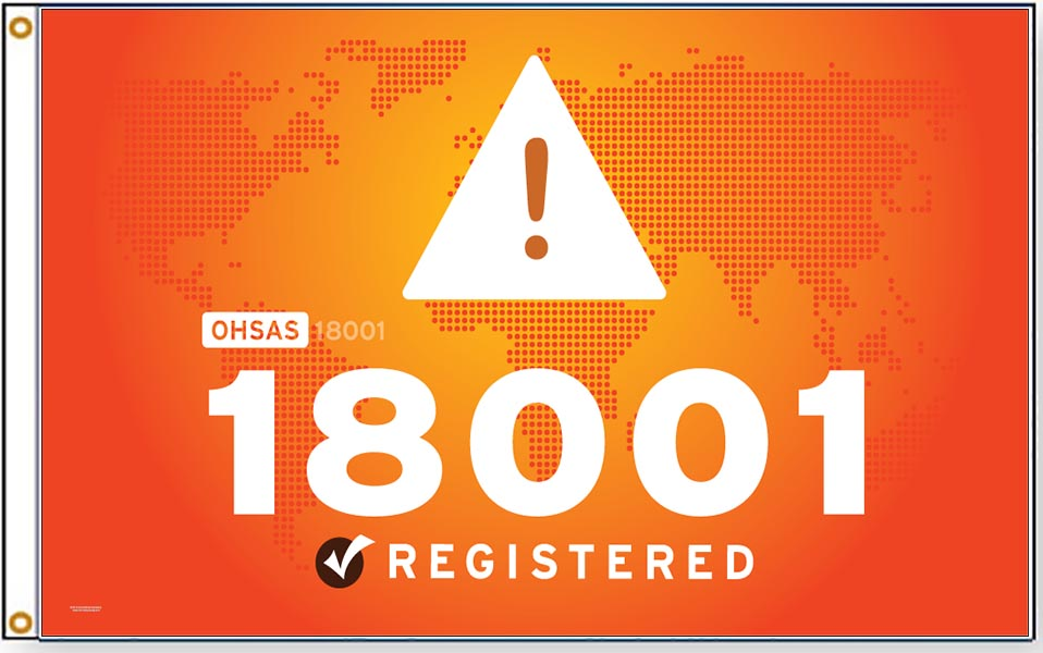 OHSAS 18001 Flags