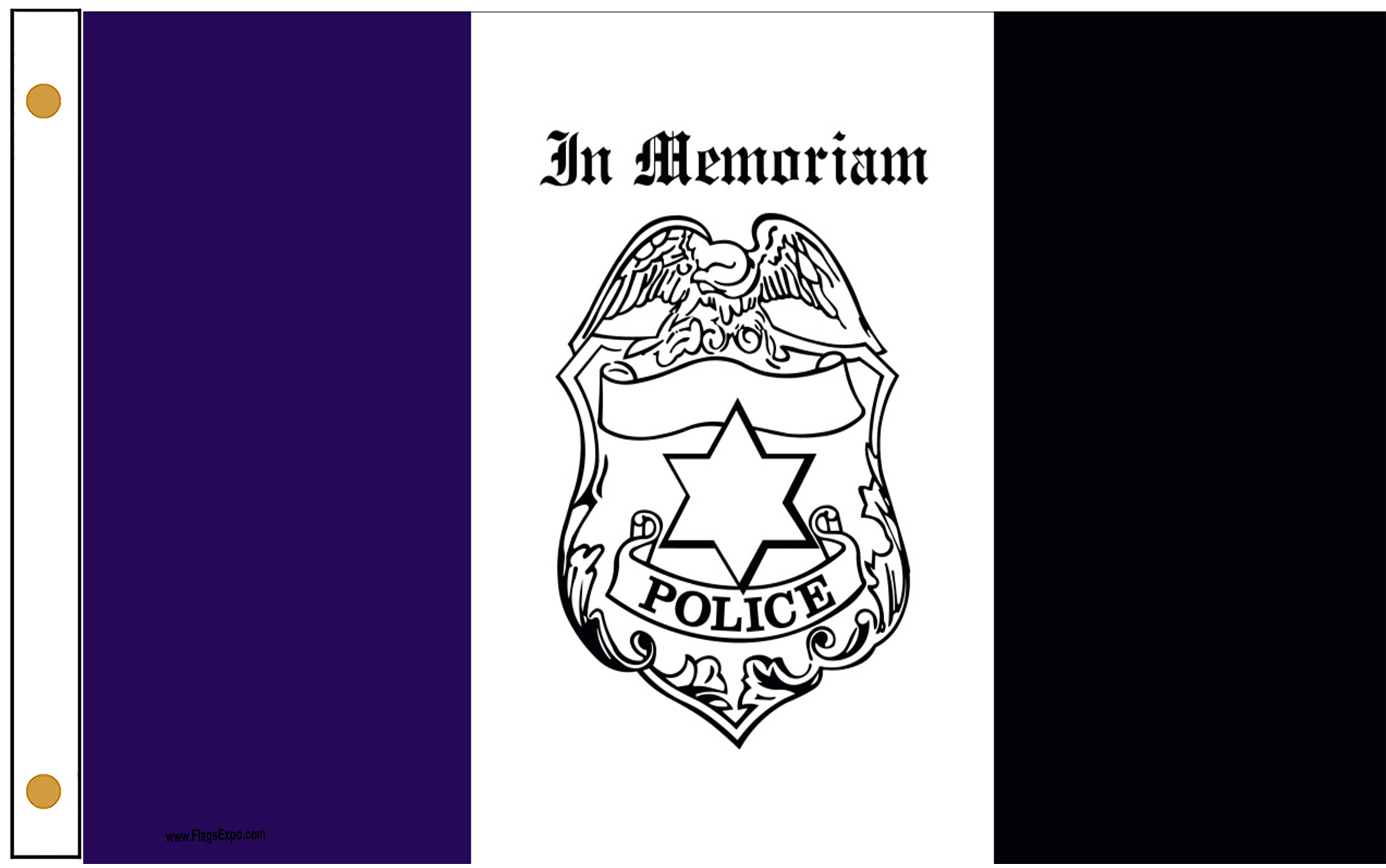 Police Mourning Flags