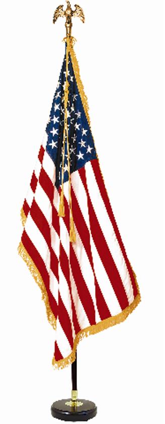 Premium Mahogany Flag Set