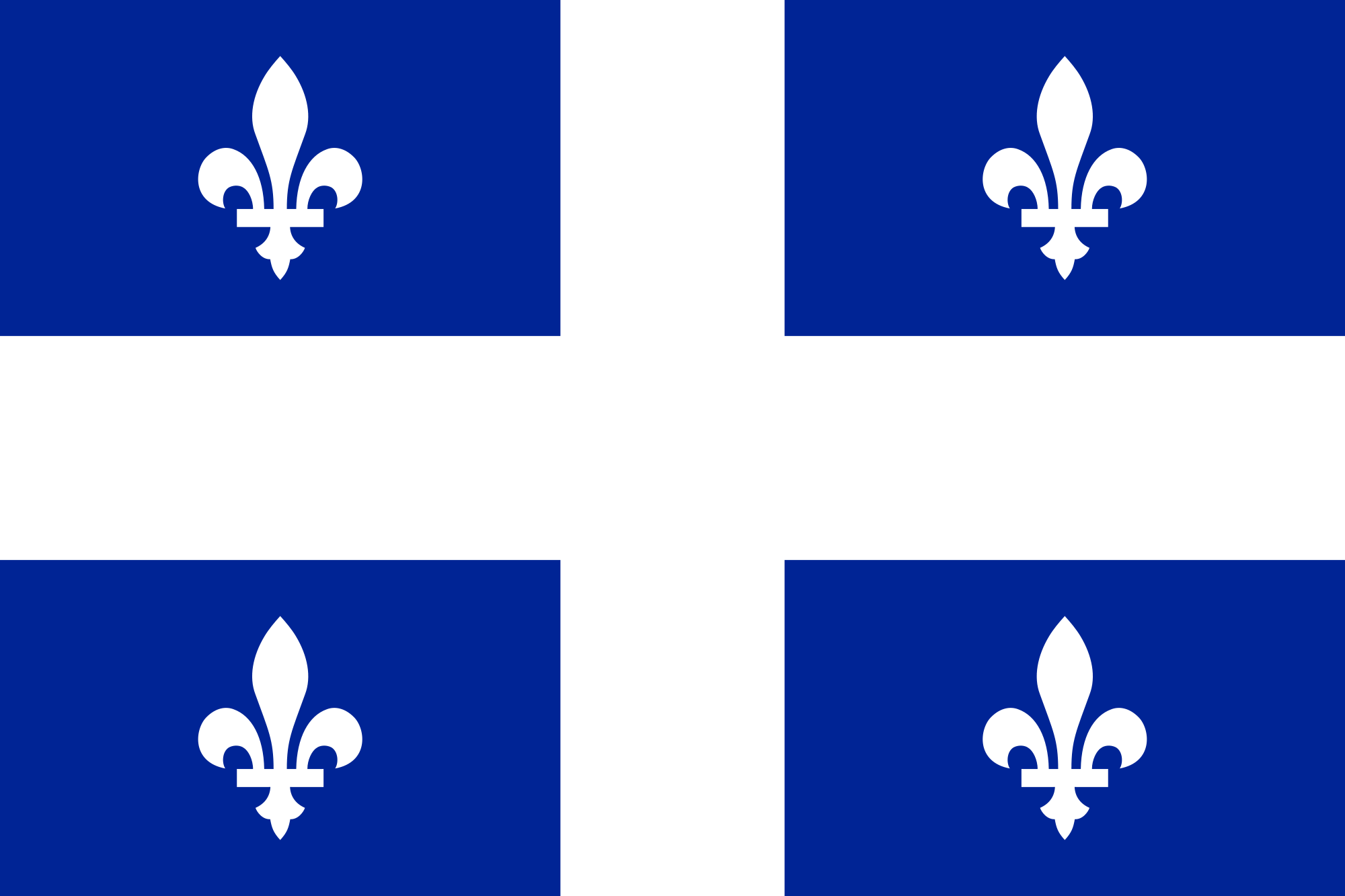 Quebec Official Government Flags