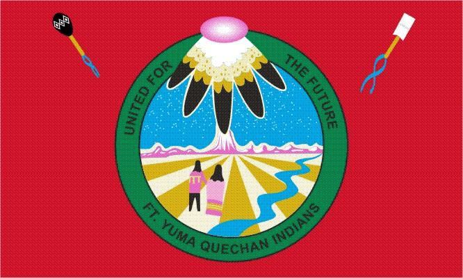 Quechan of Ft Yuma Tribe Flags