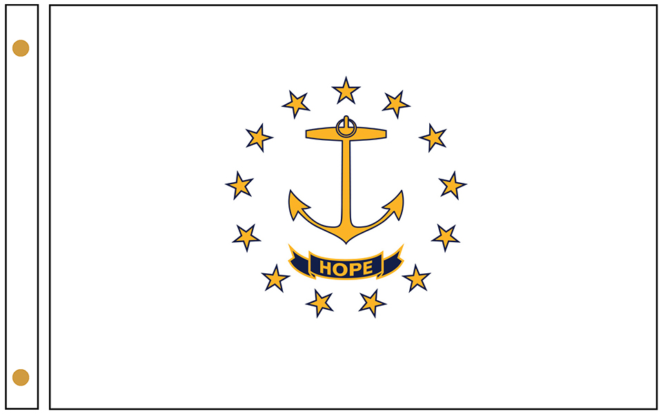 Rhode Island State Flags