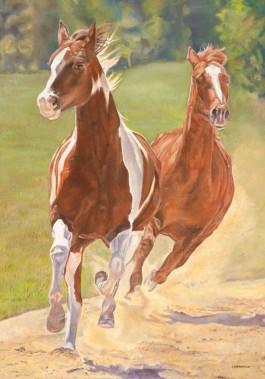 Running Horses Flags