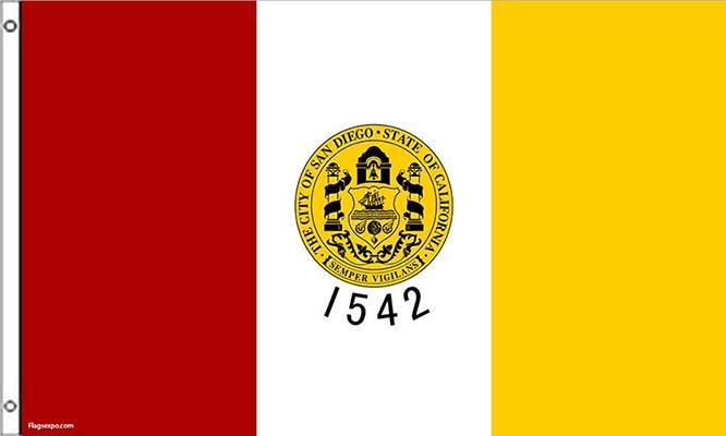 San Diego CA Flags