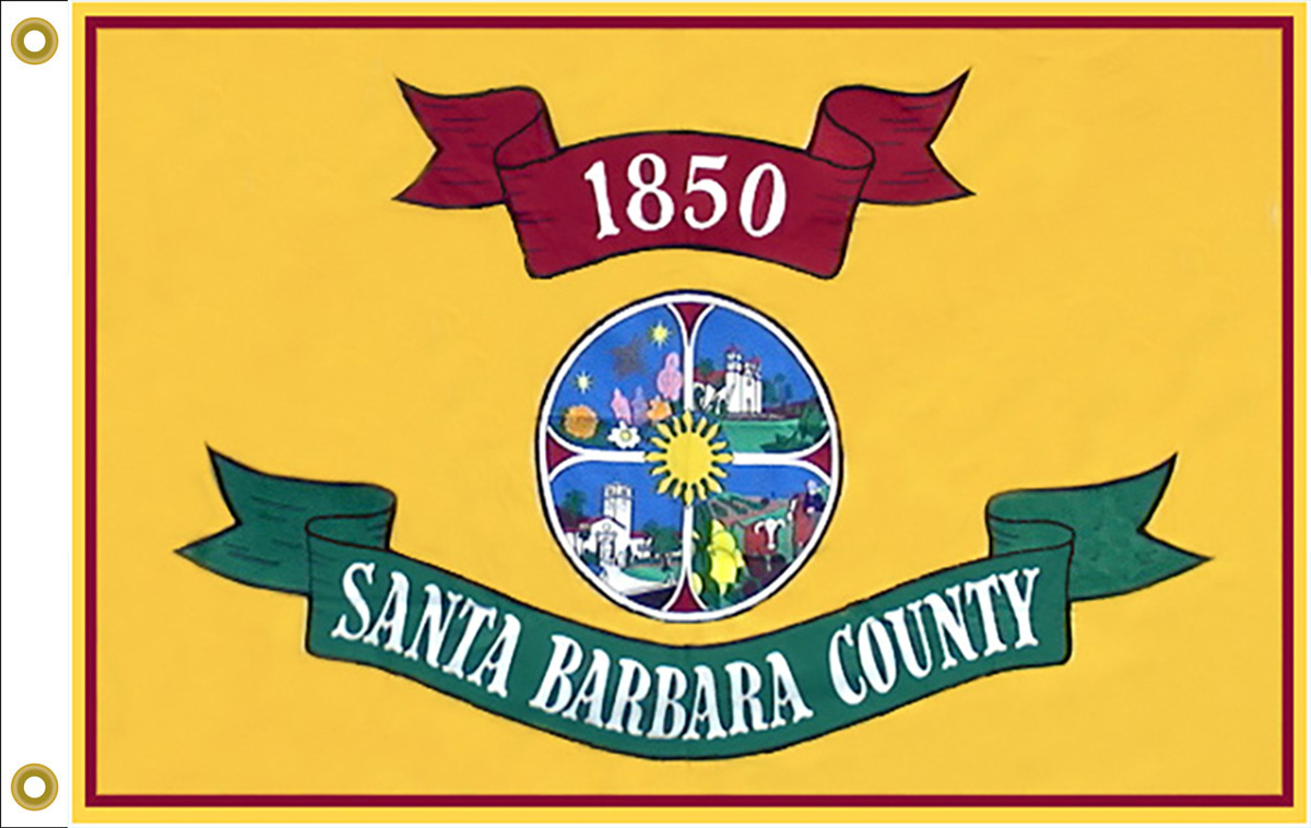 Santa Barbara County CA Flags