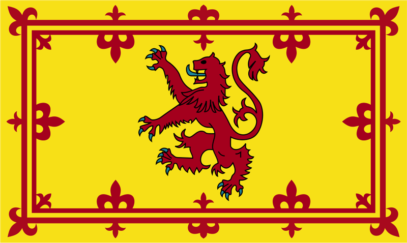 Scotland Flags with Lion