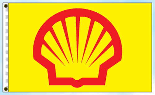Shell Gas Station Oil Flags