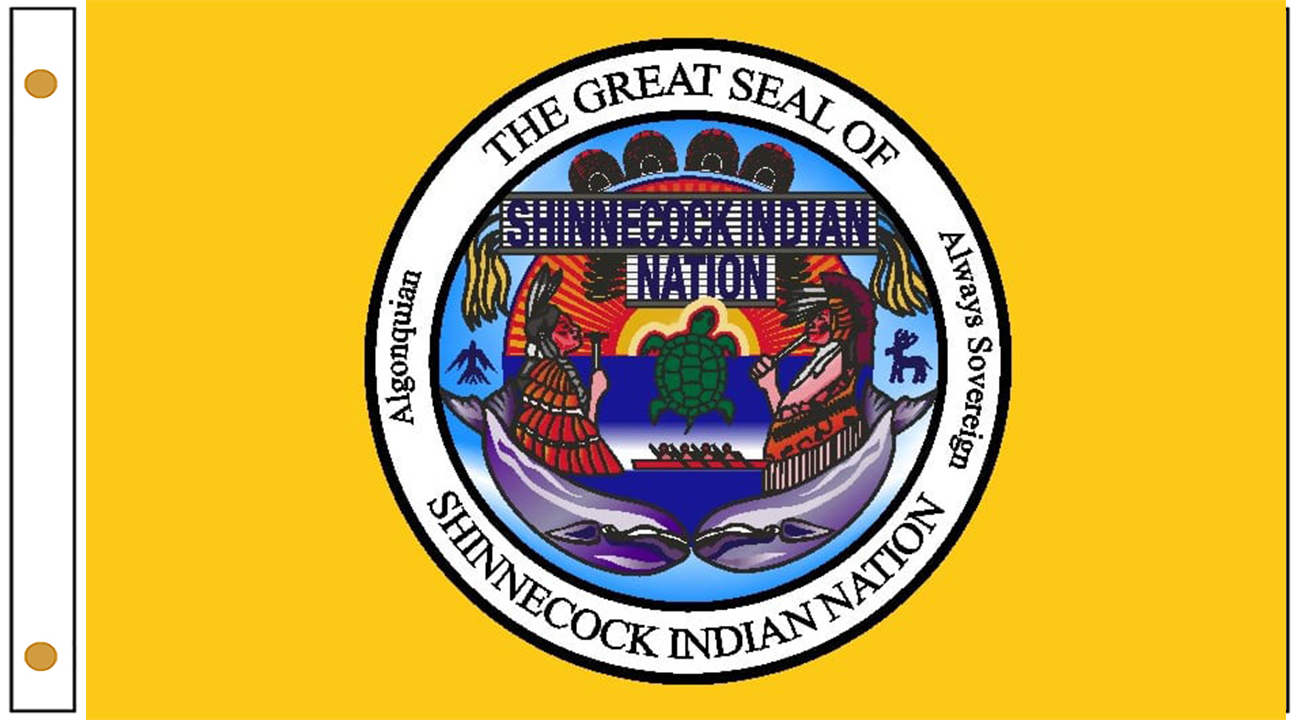 Shinnecock tribe flags