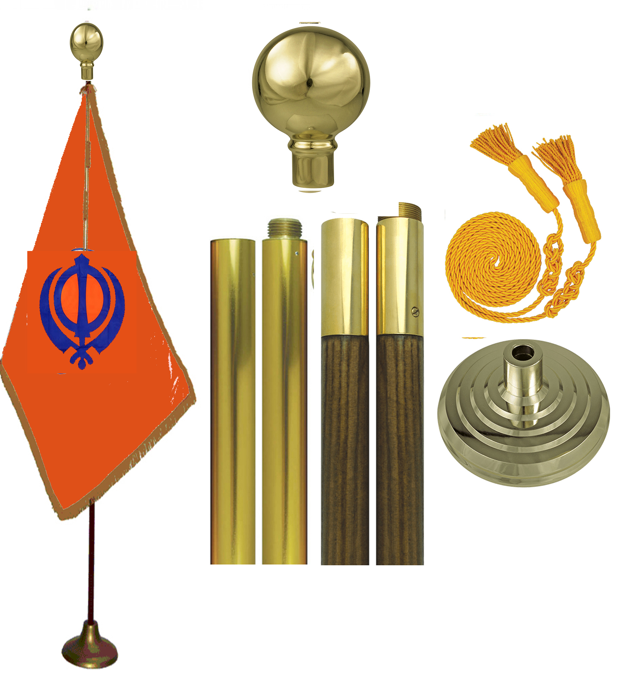 Sikh Khanda Flags Set