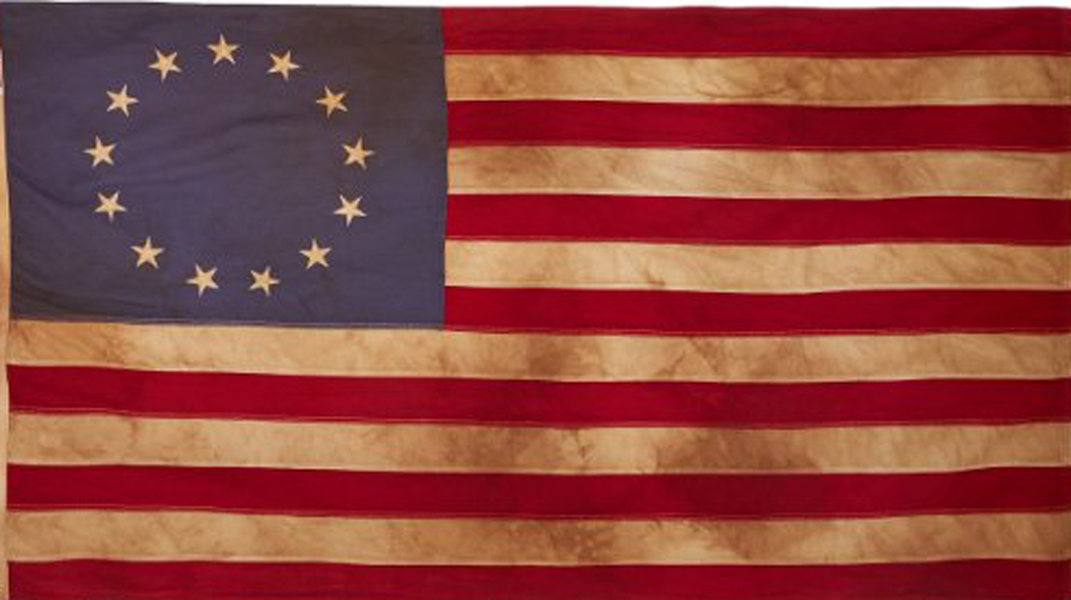 Tea Stained 13 Star Flags