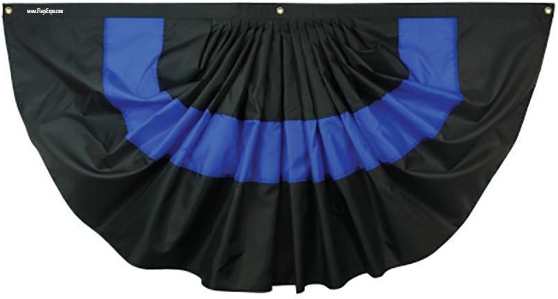 Thin Blue Line Fan Flag