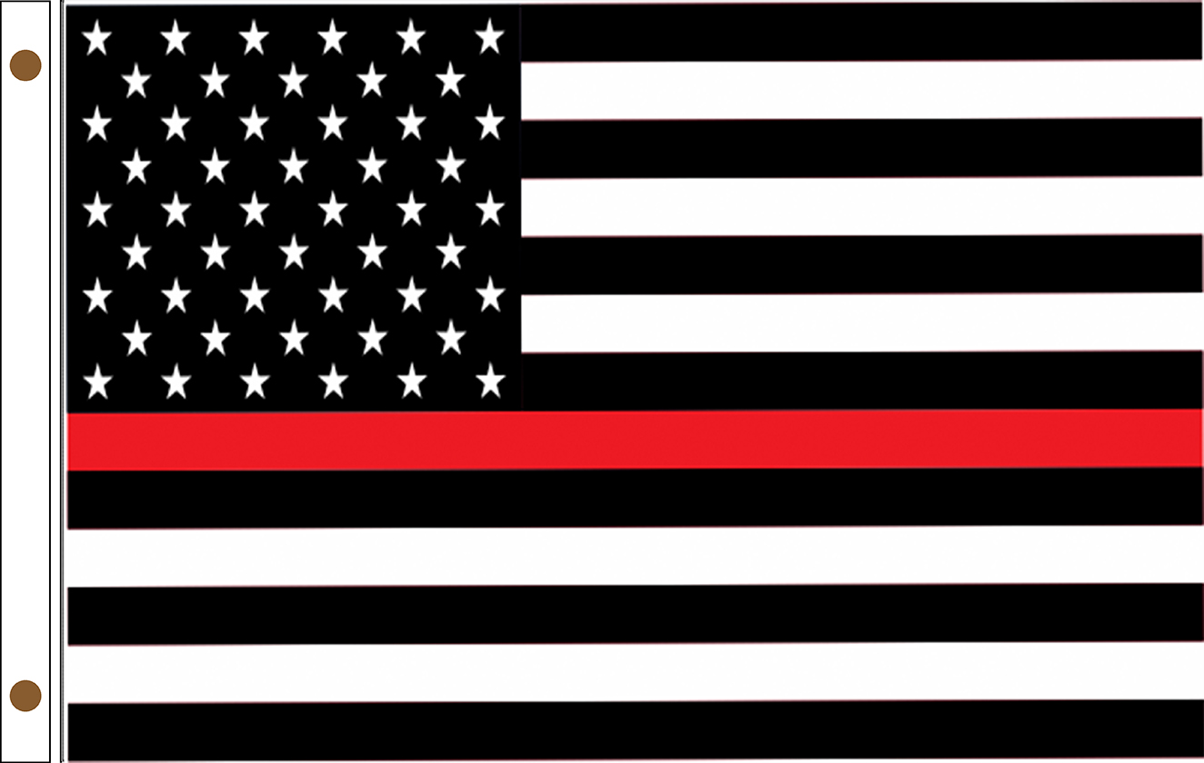 Thin Red Line American Flags