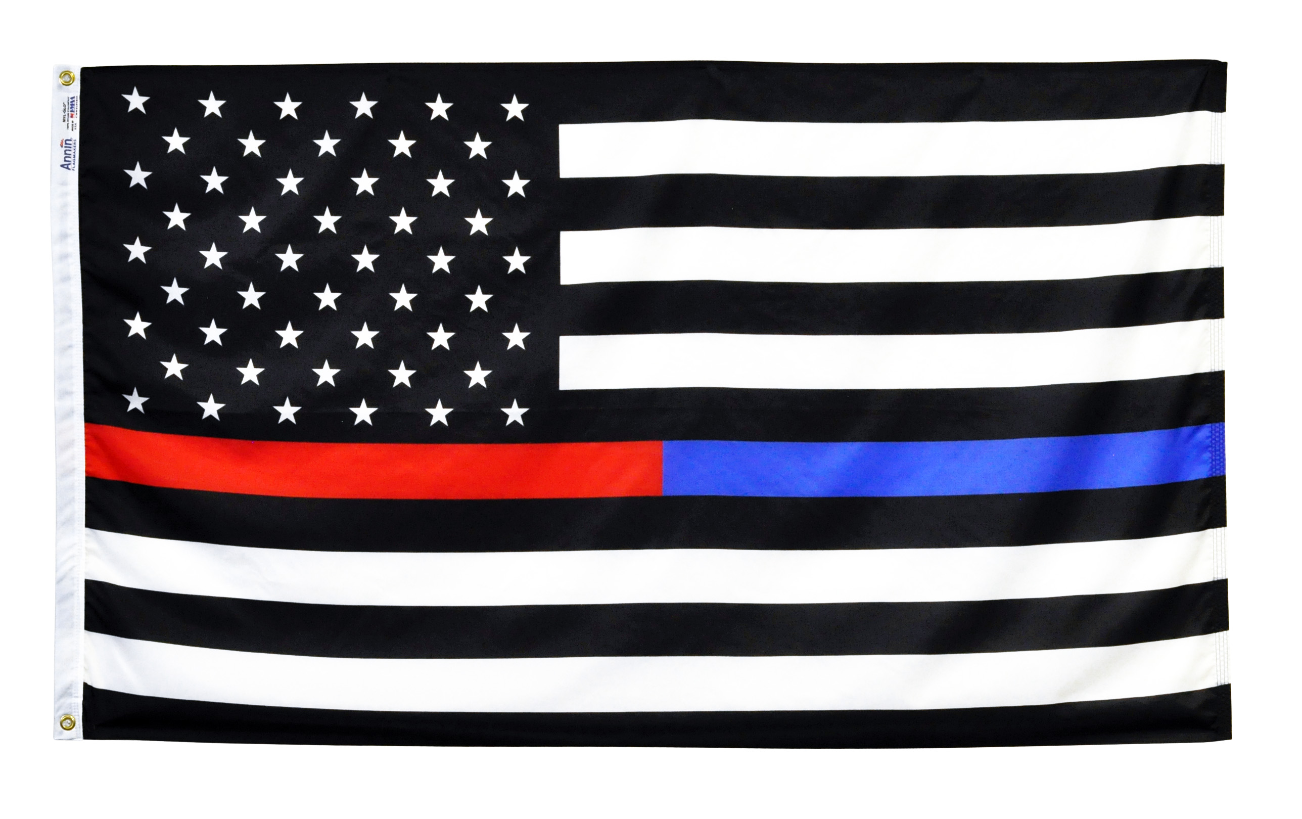 Thin Red and Blue Line US Flags