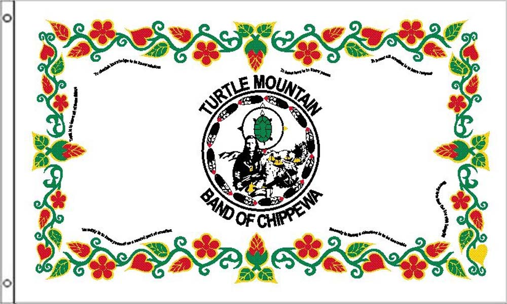 Turtle Mountain Tribe Flags