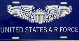 US Air Force License Plates