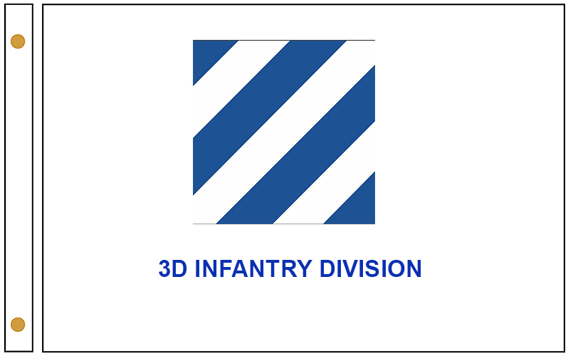 US Army 3rd Infantry Division White Flags