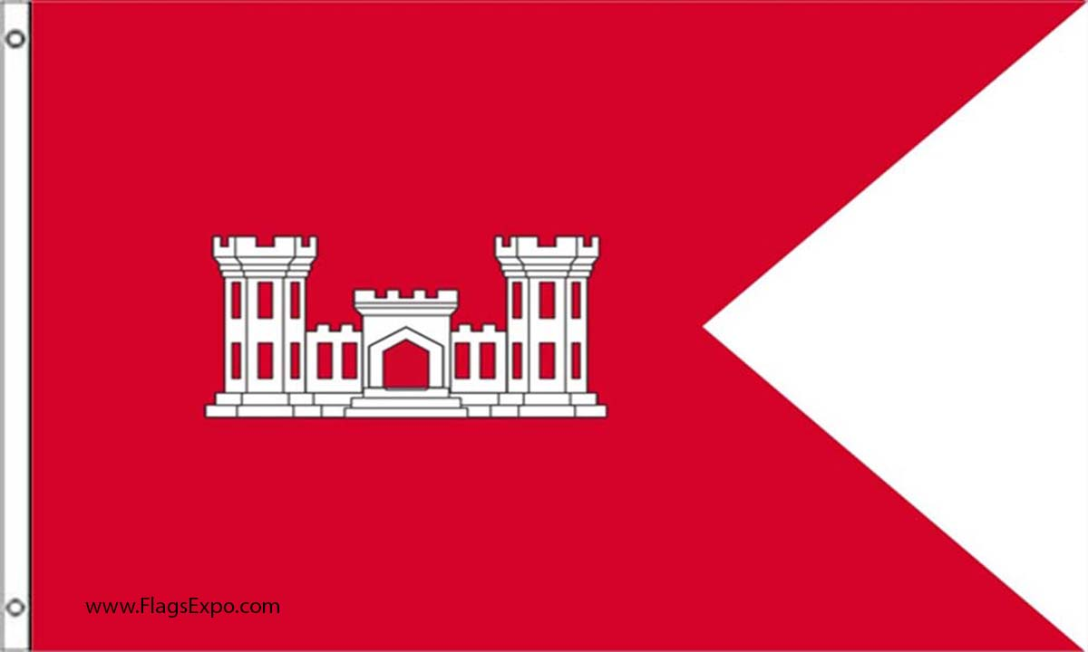 Us Army Corps Of Engineers Guidon Flags
