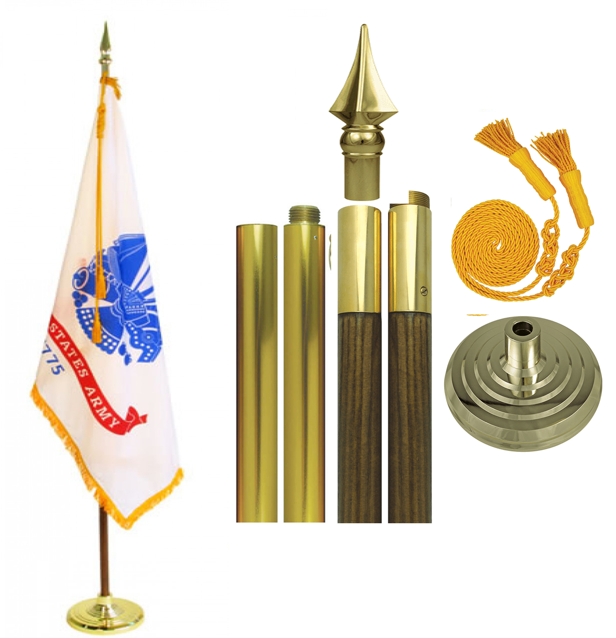 US Army Parade Flag Set