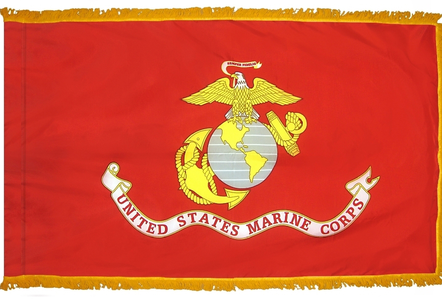 US Marine Corps Indoor Parade Flags