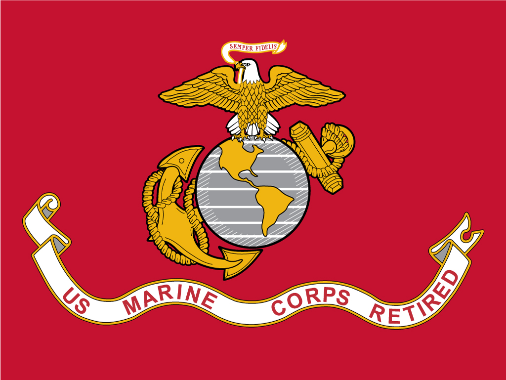 US Marine Corps Retired Flags