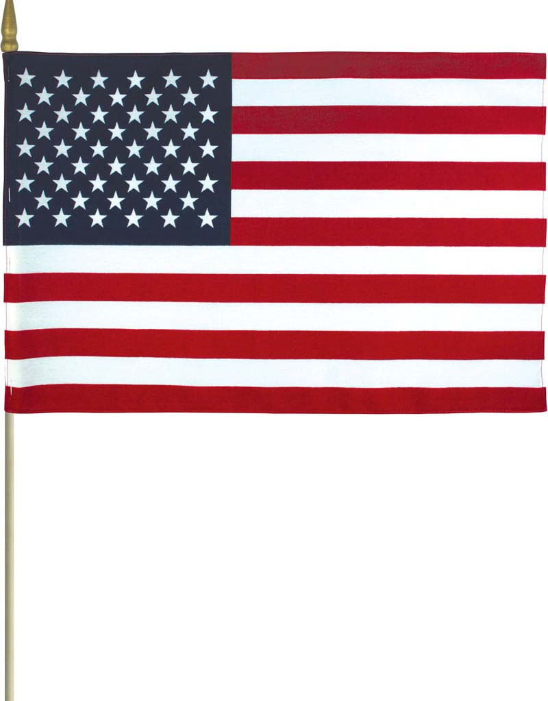 US Mounted Flags